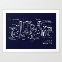 blueprint Art Prints featuring Blueprint by Matthew McKenna