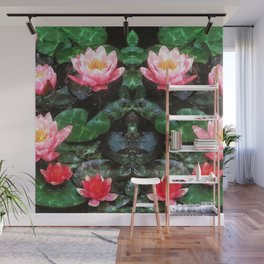 Mirrored Water Lilies Wall Mural