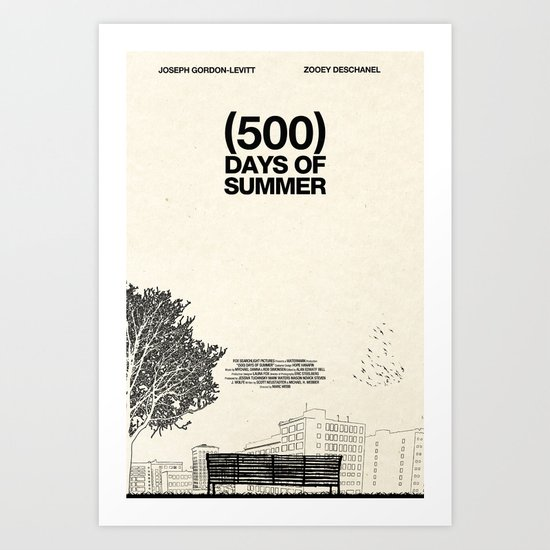 (500) Days of Summer Art Print by Martin Lucas | Society6