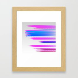 Abstract pink and blue Framed Art Print