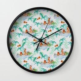 Jungle Jacuzzi Pattern Wall Clock
