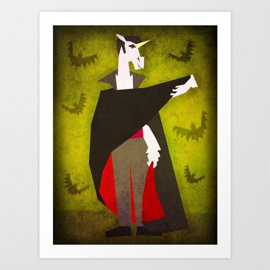Dracula Unicorn Art Print