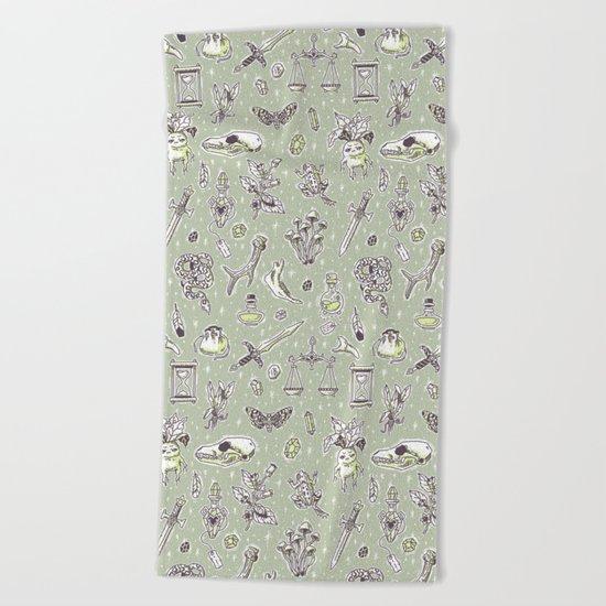 Witchcraft Pattern Beach Towel