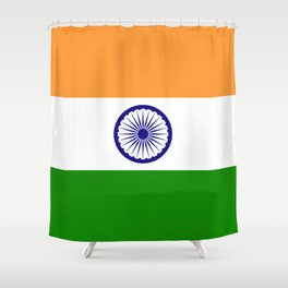 National flag of India - Authentic version to scale and color Shower Curtain
