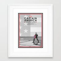steve rogers Framed Art Prints featuring Steve Rogers  by Samantha Panther
