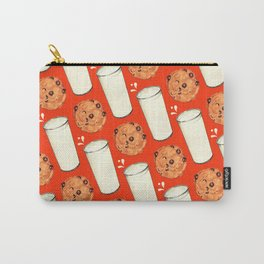 Milk & Cookies Pattern - Red Carry-All Pouch