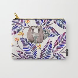 Happy Sloth – Tropical Indigo Leaves Carry-All Pouch