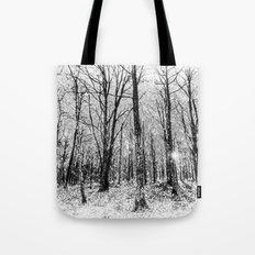 Monochrome Snow Forest Art Tote Bag