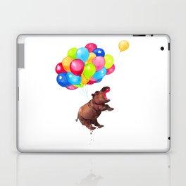 Hippopotamus Can Fly Laptop & iPad Skin