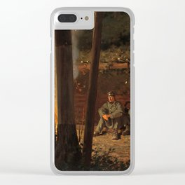 In Front of Yorktown by Winslow Ho mer (1862-63) Clear iPhone Case