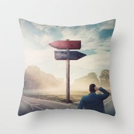 right or left? Throw Pillow