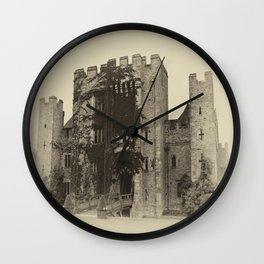 Hever Castle Yellow Plate Wall Clock