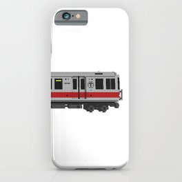 Boston Red Line Subway Train iPhone Case