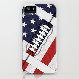 4th of July American Football Fanatic iPhone Case