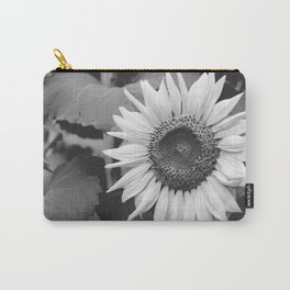 Sunflower Black And White 2 Carry-All Pouch