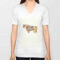 rocket V-neck T-shirts featuring Rocket by ClarissaMagley