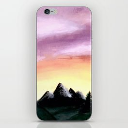Sunset Over the Mountains iPhone Skin