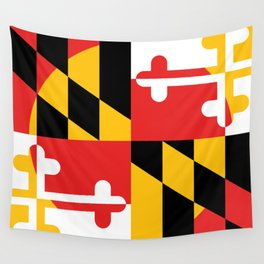 Maryland State Flag Art Print Wall Tapestry