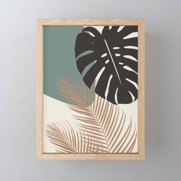 Minimal Monstera Palm Finesse #1 #tropical #decor #art #society6 Framed Mini Art Print