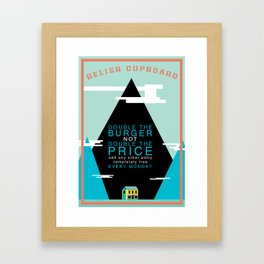 Double The Burger Framed Art Print