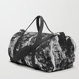 Lava cascade in black and white Duffle Bag