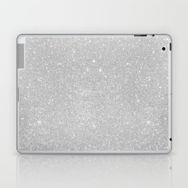 Pastel Grey Glitter Laptop & iPad Skin