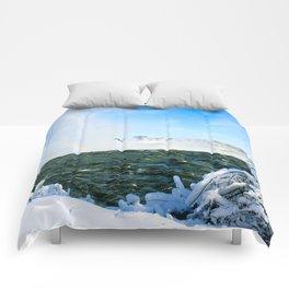 Ice in Niagara Comforters