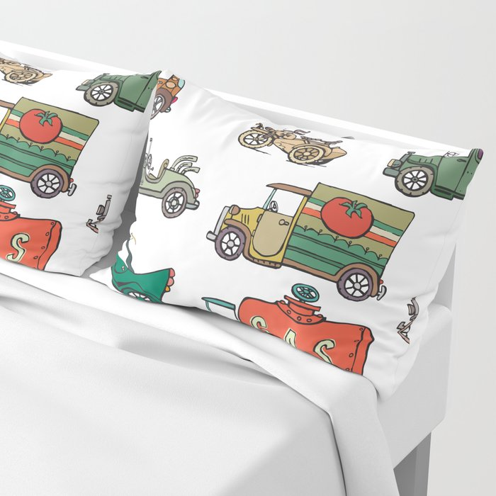 old cars Pillow Sham