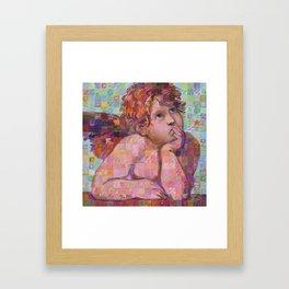 Sistine Cherub No. 1 Framed Art Print