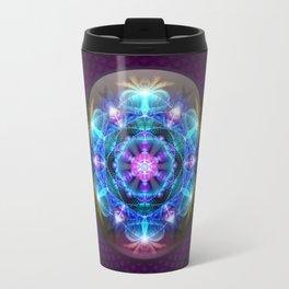 Fibonacci Flower Mandala Travel Mug