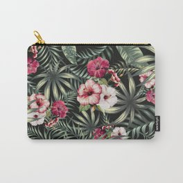 Tropical leave pattern 11.1 Carry-All Pouch