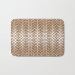 Cool Elegant Frosted Mocha Geometric Design Bath Mat