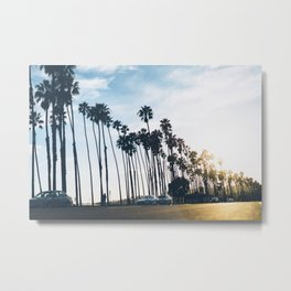 Sunsets and Palm Trees Metal Print