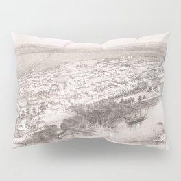 Vintage Pictorial Map of Hoboken NJ (1860) Pillow Sham