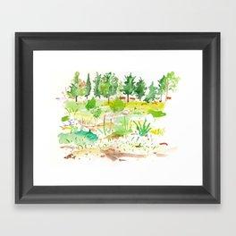 Jerusalem Forest Trees Framed Art Print