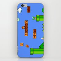 mario iPhone & iPod Skins featuring Mario by idaspark