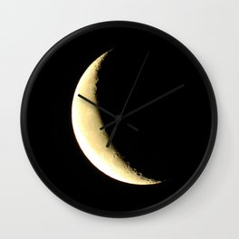 The Crescent Morning Wall Clock