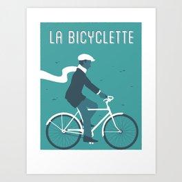 La Bicyclette Art Print