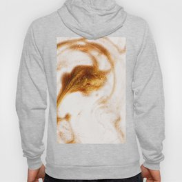 Abstrct Ivory Faux Gold Dust Elegant Marble Hoody