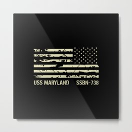 USS Maryland Metal Print