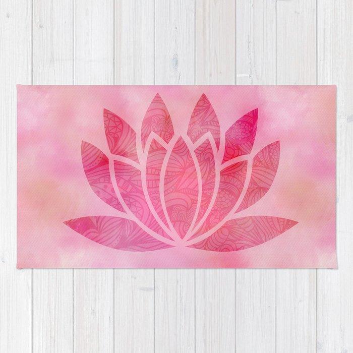 Zen watercolor lotus flower yoga symbol rug by ruthart society6 zen watercolor lotus flower yoga symbol rug mightylinksfo