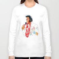 elvis presley Long Sleeve T-shirts featuring Elvis presley by calibos