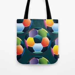 Colorful Soccer Ball Tote Bag