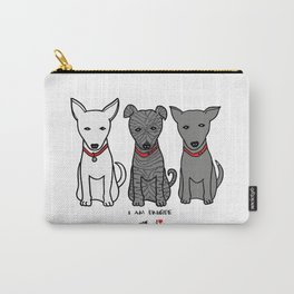 3 Musketeers, I Love Bali Dogs Carry-All Pouch
