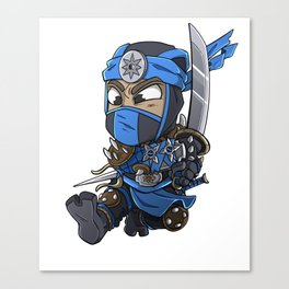 Blue Ninja Chibi Assassin Gift Canvas Print