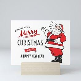 Christmas Santa Sticker Set Mini Art Print