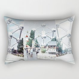 Brussels Atomium Photo Collage Rectangular Pillow
