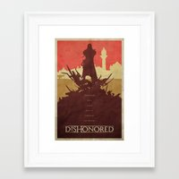 dishonored Framed Art Prints featuring To the Rats - Dishonored Poster by Edward J. Moran II