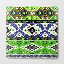 Boho Navajo Geometric Var. 10 Metal Print