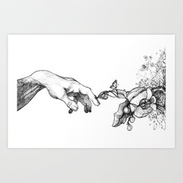 Touched by Nature Art Print